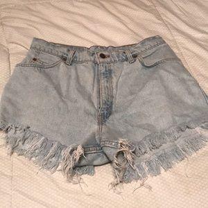 Levi's jean shorts cut offs